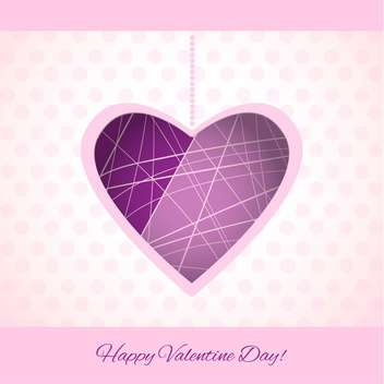 Vector colorful background for Valentine's Day with purple heart - бесплатный vector #125823