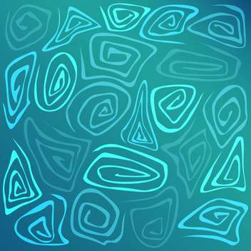 Vector illustration of abstract blue background with geometric pattern - Free vector #125883