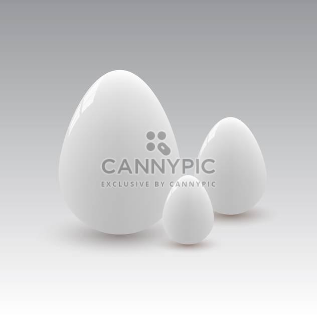 Vektor-Illustration der drei weiße Eier auf weißem Hintergrund - Free vector #125933