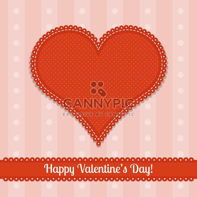 valentine card with big red heart and text place - Free vector #126043