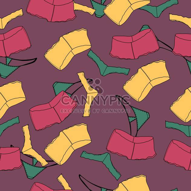 Vector background with colorful female underwear - Free vector #126113