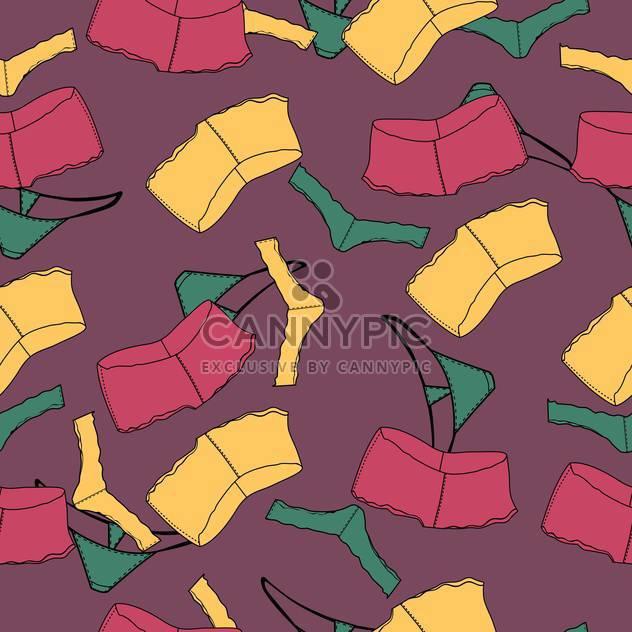 Vektor-Hintergrund mit bunten weibliche Unterwäsche - Free vector #126113