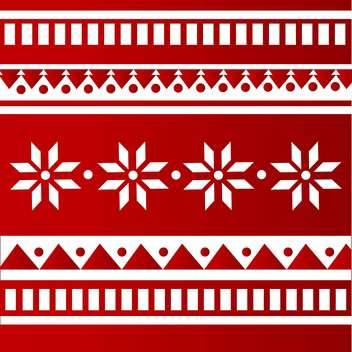 Vector red color folk background with white ornament - Free vector #126153