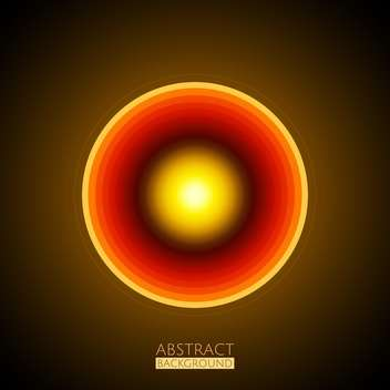 Vector illustration of abstract glowing round circle background - Free vector #126163