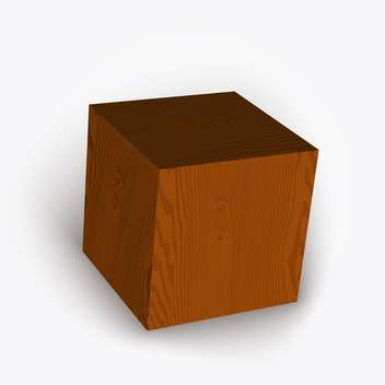 Vector illustration of wooden brown box on white background - vector gratuit #126363