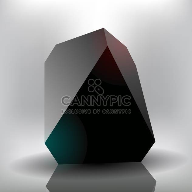 Vector black abstract stone on grey background - Free vector #126403