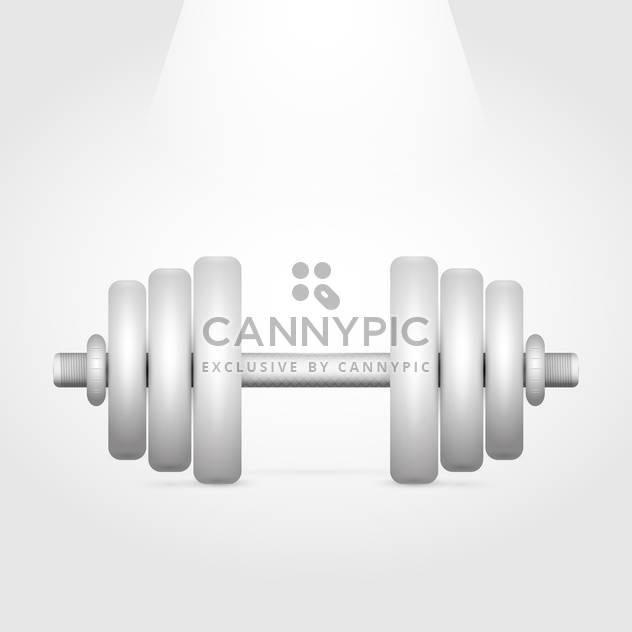 Vector illustration of sport dumbbell on white background - Free vector #126533