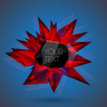 Vector abstract background red art crystal on blue background - vector gratuit(e) #126563