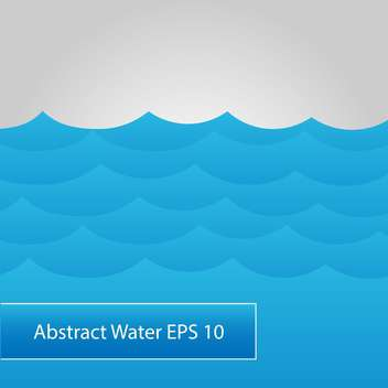 abstract background with blue water sea waves - vector #126573 gratis