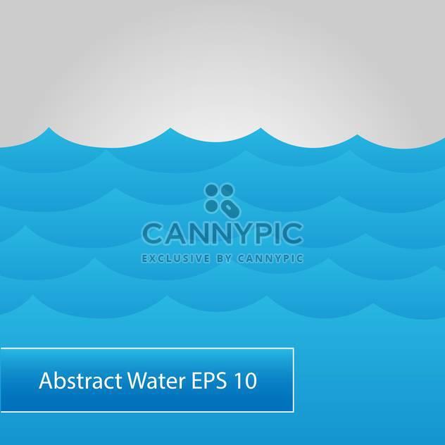 abstrakt mit blauem Wasser Meereswellen - Free vector #126573