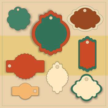 Vector set of vintage decoration frame labels - Free vector #126593