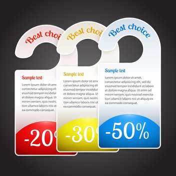 vector illustration of best choice labels on dark background - vector #126693 gratis