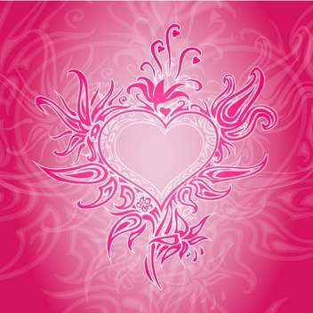 Vector red background with abstract heart. - vector gratuit #126793