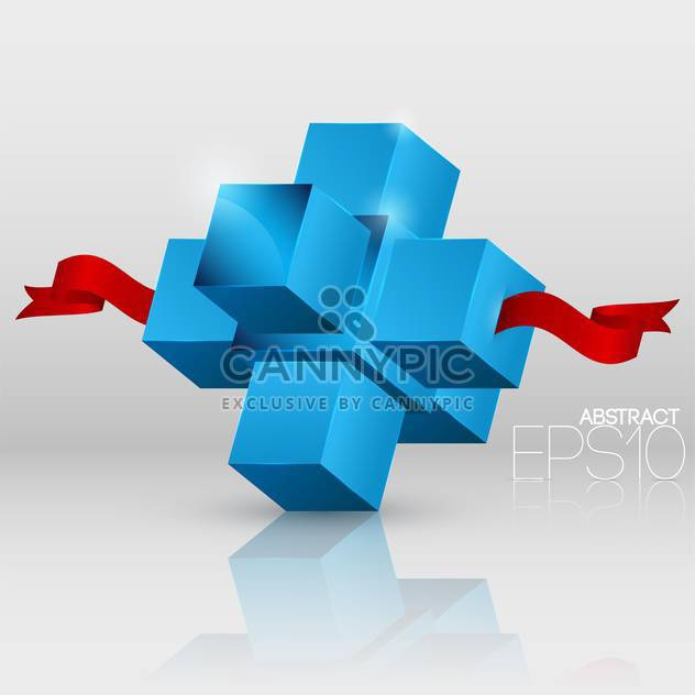 Vector abstract background with cubes on white background - Free vector #126813