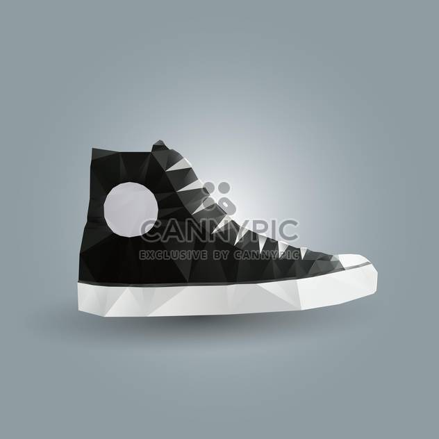 Vector illustration of black gumshoes on grey background - Free vector #126853