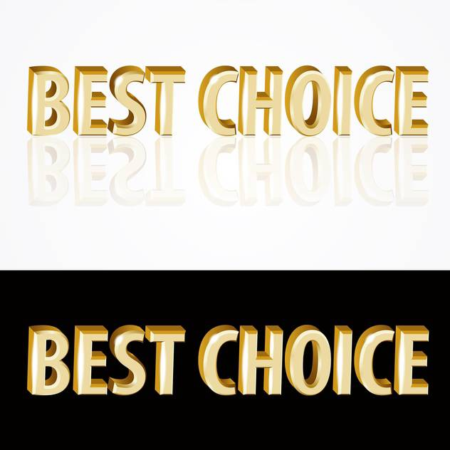 Vector gold best choice signs on black and white background - vector #126923 gratis