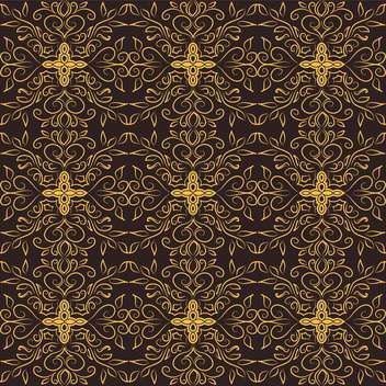 Vector vintage dark background with floral pattern - vector gratuit #126933