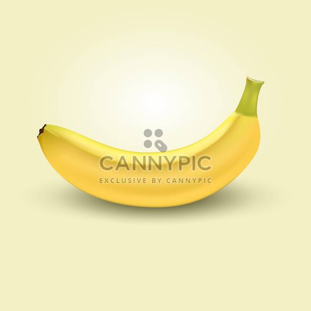 Vector illustration of yellow sweet banana on beige background - Free vector #126963