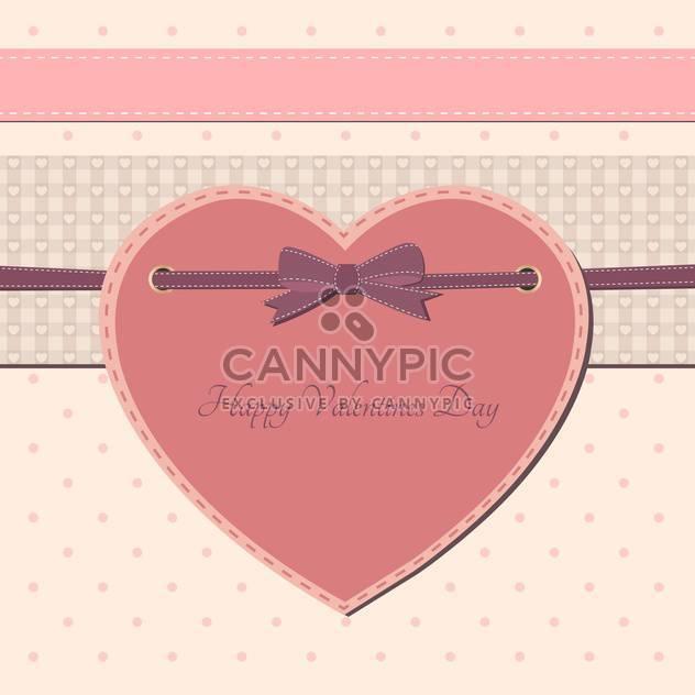 Valentine Tag Grußkarte mit rosa Herz und text - Kostenloses vector #126973