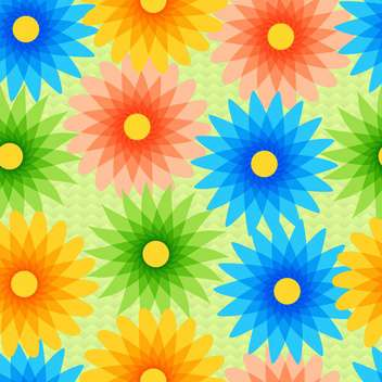 Vector background with colorful flowers with text place - vector #126983 gratis