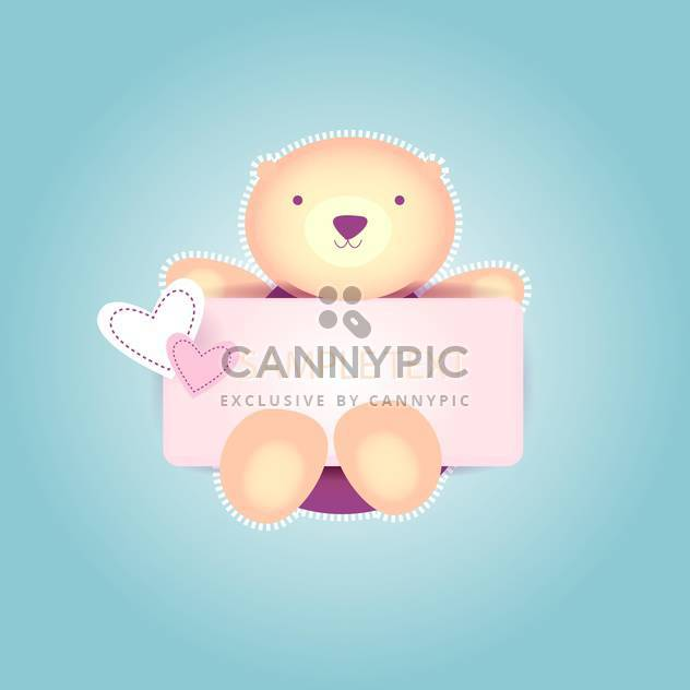 Cute valentine teddy bear on blue background with text place - Free vector #127023