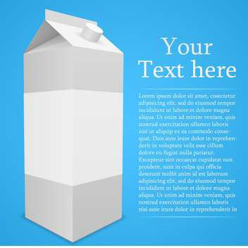 Vector illustration of white package with text place on blue background - Free vector #127143