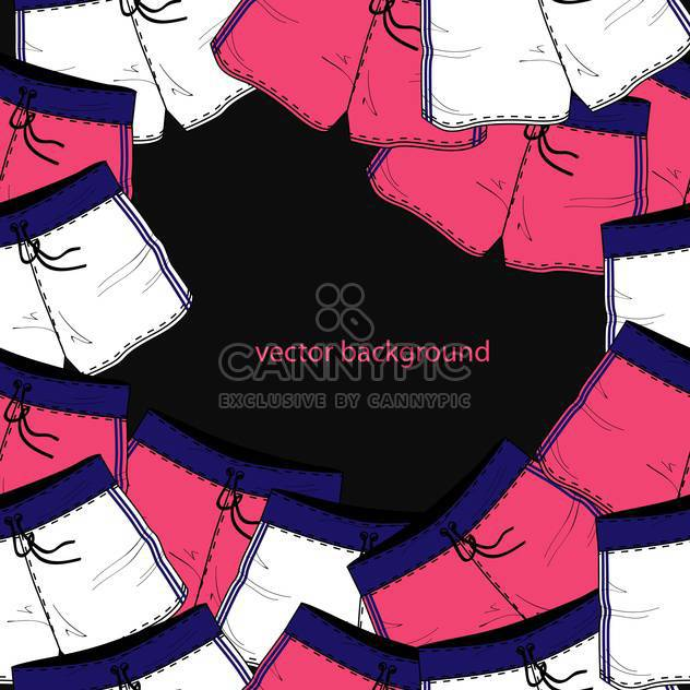 Vector background with different colorful shorts - Free vector #127183