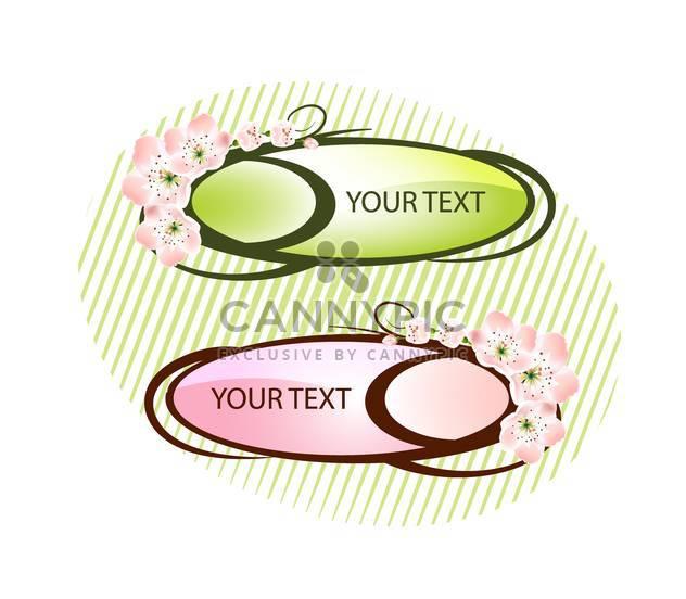 Floral-Karte mit stilisierten Blumen und Text-Platz - Kostenloses vector #127193