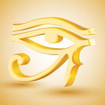 gold eye of Horus on beige background - vector gratuit #127213