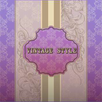 Vector illustration of purple vintage frame with text place - vector gratuit #127263