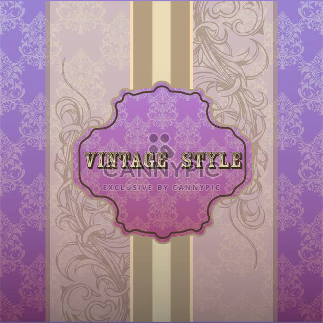 Vector illustration of purple vintage frame with text place - Free vector #127263