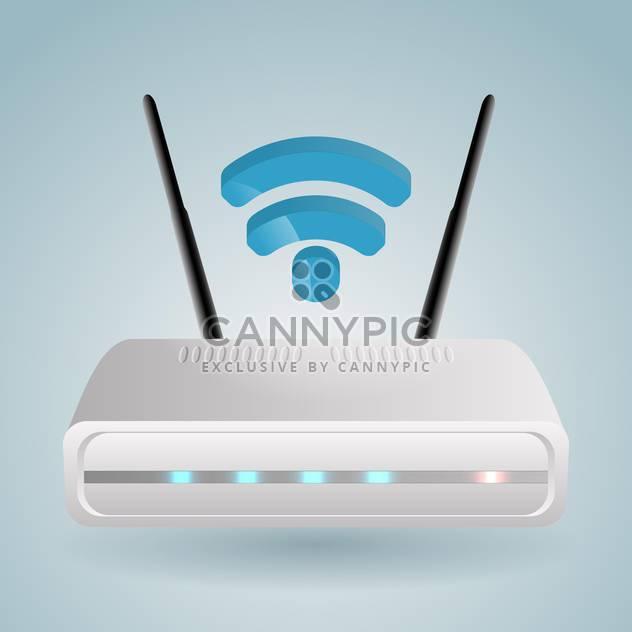 Vektor-Illustration des wireless-Router auf blauem Hintergrund - Kostenloses vector #127313