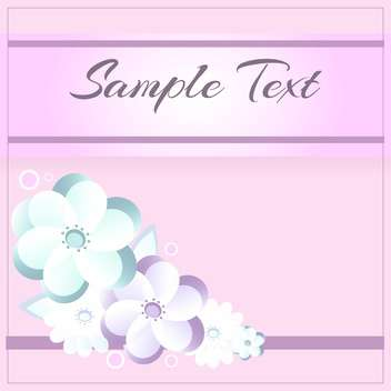 floral pattern on pink background with text place - vector #127343 gratis