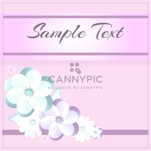 floral pattern on pink background with text place - Free vector #127343