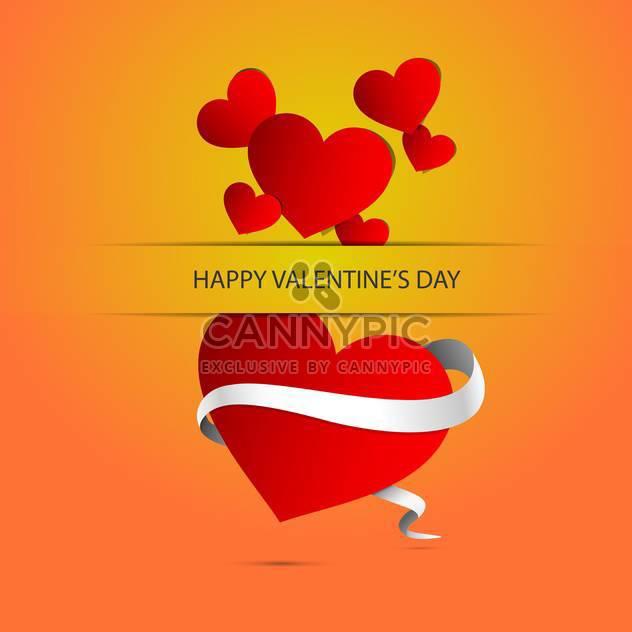 Vektor-Hintergrund mit Herz und Text Platz zum Valentinstag - Kostenloses vector #127373