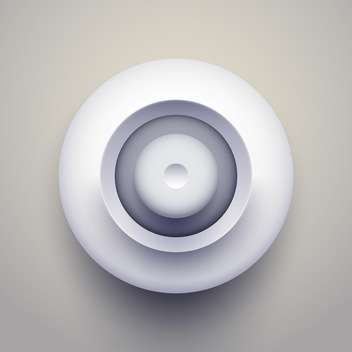 White circle button on grey background - vector gratuit(e) #127423