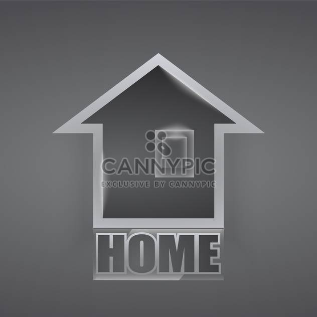 Vector home icon on grey background - Free vector #127433