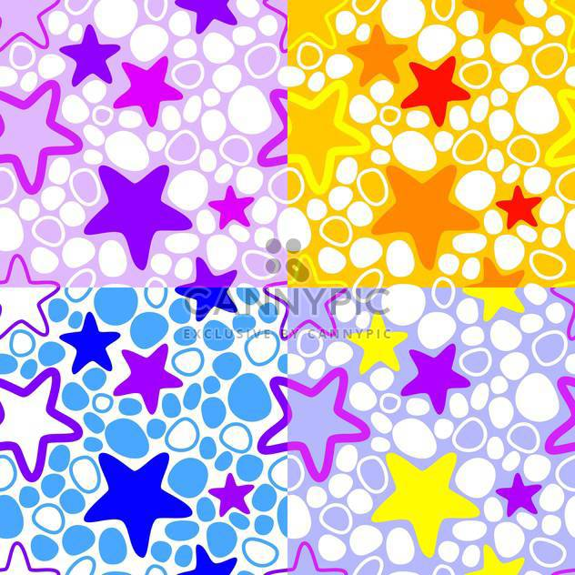 Vector colorful background with stars - Free vector #127473