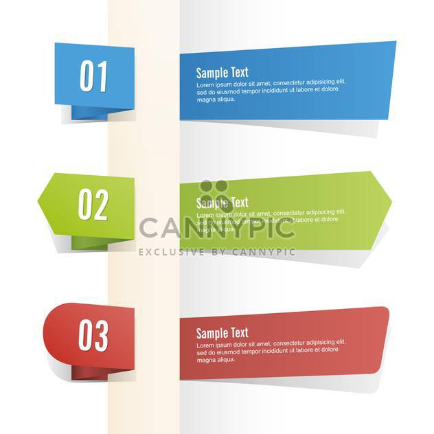 Vector set of colorful banners on white background - Free vector #127503