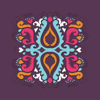 Vector retro-styled floral background with colorful pattern - vector gratuit(e) #127593