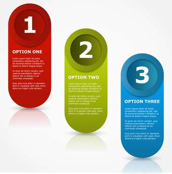 colorful three options banners - vector gratuit #127633