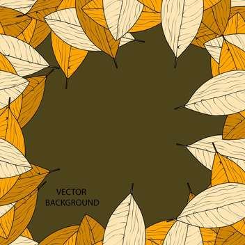 Vector background with autumn leaves and text place - vector #127653 gratis
