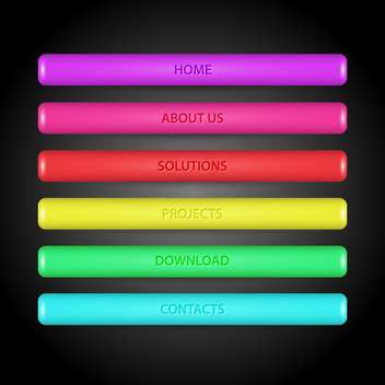 vector illustration of rainbow gradient lines on dark background - vector #127673 gratis