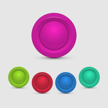vector set of colorful buttons on white background - Free vector #127693