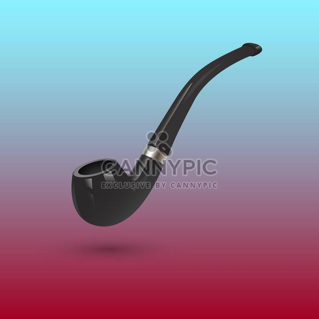 Vector illustration of tobacco pipe - Free vector #127723