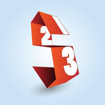 white numbers on red ribbon on blue background - vector gratuit #127743