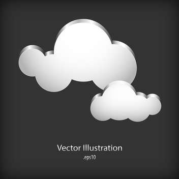 Speech cloud bubbles on dark background - vector gratuit #127763