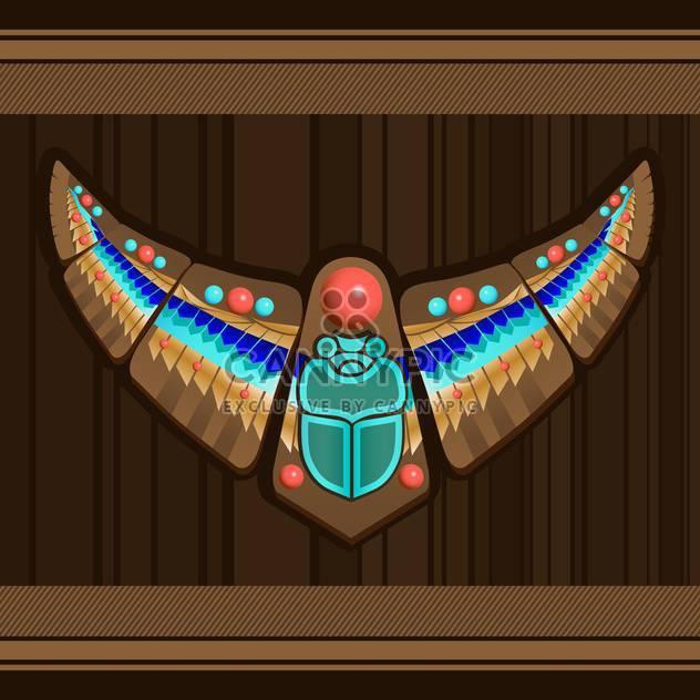indianische Kunst Vogel Stilisierung auf braunen Hintergrund - Kostenloses vector #127813
