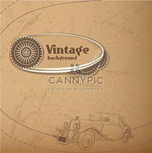 Vektor-Jahrgang-Hintergrund mit altem Auto - Kostenloses vector #127863