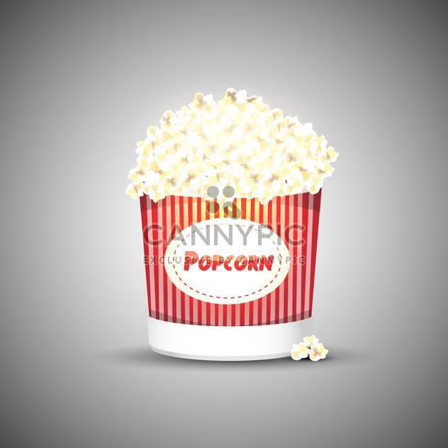 Векторная иллюстрация вкусных попкорн на сером фоне - бесплатный vector #127873